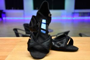 dansschoenen zwart satijn